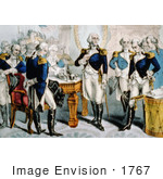#1767 Washington Taking Leave Of The Officers Of His Army
