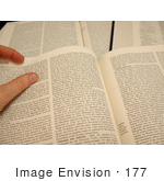 #177 Photo of a Person Reading Information in an Encyclopedia by Jamie Voetsch