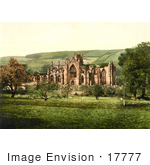 #17777 Picture Of The Gothic Style Melrose Abbey In Melrose Scotland