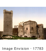 #17783 Photo Of The Watch Tower At Montmajour Abbey Bouches-Du-Rhone Arles France