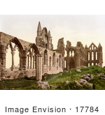 #17784 Photo Of The Ruins Of Whitby Abbey In Yorkshire England