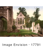 #17791 Photo Of The Interior Ruins Of Valle Crucis Abbey In Llangollen Wales
