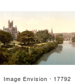 #17792 Photo Of Pulteney Bridge And The Abbey Church Of Saint Peter/Bath Abbey On The Banks Of River Avon