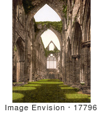 #17796 Photo Of The Interior Ruins Of Tintern Abbey Looking West England