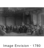 #1780 Franklin Before The Lords In Council Whitehall Chapel London