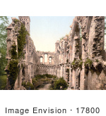 #17800 Photo Of Ruins Of The Saint Joseph'S Chapel Interior In Glastonbury Somerset England