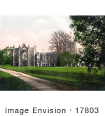 #17803 Photo Of A Dirt Road And Lawn At Newstead Abbey Notts England