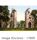 #17805 Photo Of The Ruins Of Glastonbury Abbey In Glastonbury Somerset England