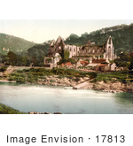 #17813 Photo Of The Ruins Of The Tintern Abbey On The Shore Of The River Wye Tintern England