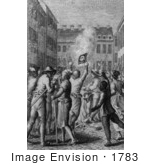 #1783 Burning Of The Stamps In Boston August 1765