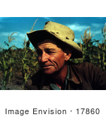 #17860 Photo Of A Male Farmer In A Corn Crop