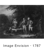#1787 Gen Marion In His Swamp Encampment Inviting A British Officer T