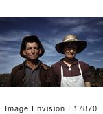 #17870 Photo Of A Homesteader Couple In Pie Town New Mexico 1940