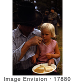 #17880 Photo Of A Dad Feeding His Little Daughter