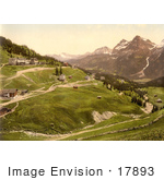 #17893 Picture Of The Village Of Arosa Grisons Or Graubunden In Switzerland