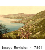 #17894 Picture Of The Villages Of Montreux Veytaux And Territet On Geneva Lake Vevey