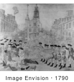 #1790 Black And White Version Of The Bloody Massacre Perpetrated In King Street Boston On March Revere