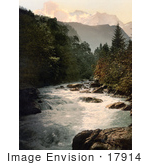 #17914 Picture Of Jungfrau And Silberhorn Mountains Lutschine River Swiss Alps Switzerland