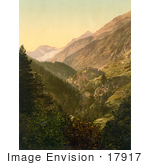 #17917 Picture Of Zmutt Valley And Glacier Switzerland