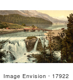 #17922 Picture Of Waterfalls Of The Inn River In Upper Engadine St Moritz Grisons Switzerland