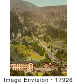 #17926 Picture Of Murren Railway Heading Uphill Lauterbrunnen Switzerland