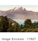 #17927 Picture Of Burgenstock And Pilatus Mountains Near Lake Lucerne Switzerland