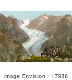 #17936 Picture Of Fiescher Glacier In The Swiss Alps Mountains Valais Switzerland