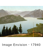 #17940 Picture Of Pilatus Mountain And Lake Lucerne Switzerland