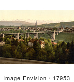 #17953 Picture Of Aare River And Alps Berne Switzerland