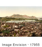 #17955 Picture Of An Aerial Of Lucerne Switzerland