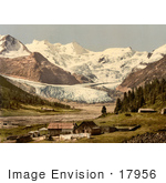 #17956 Picture Of Tschierva Glacier And Piz Roseg Switzerland