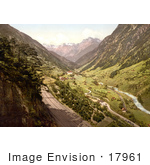#17961 Picture Of Three Tracks Of The St Gotthard Railway Wassen Switzerland