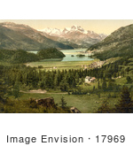 #17969 Picture Of Lake Champfer And Lake Silvaplana Grisons Switzerland