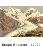 #17975 Picture Of Roseg Glacier And Alp Ota Swiss Alps Grisons Switzerland