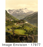 #17977 Picture Of The Village Of Stalden Switzerland