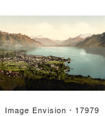 #17979 Picture Of The Village Of Vevey Switzerland On Geneva Lake