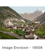 #18008 Picture Of The Village Of Wassen St Gotthard Pass Uri Switzerland