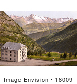 #18009 Picture Of Hotel Bellevue On A Hilltop Simplon Pass Valais Switzerland