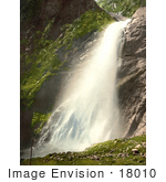 #18010 Picture Of A Waterfall At Berisal Along The Simplon Pass In The Swiss Alps Valais Switzerland