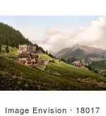 #18017 Picture Of Hillside Hotel Buildings In Leysin Vaud Nand Aigle Switzerland