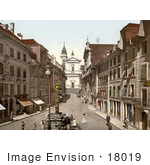 #18019 Picture Of The Cathedral Of St Ursus And Saint Ursus Fountain Solothurn Hauptgasse Switzerland