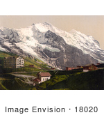 #18020 Picture Of Scheidegg Pass And Jungfrau Mountain Switzerland