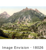 #18026 Picture Of The Saint Gotthard Railwayand The Church In Wassen Switzerland