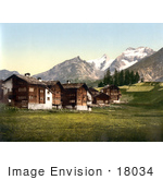 #18034 Picture Of The Saas Fee Village Valais Switzerland
