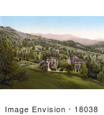 #18038 Picture Of Hillside Buildings In Schonbrunn Switzerland