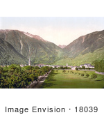 #18039 Picture Of The Village Of Martigny And Forclaz Pass Valais Switzerland
