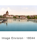 #18044 Picture Of Hotel De Chateaux On The Shore Of Geneva Lake In Ouchy Switzerland