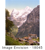 #18045 Picture Of Hotel Des Alps In The Village Of Murren Bernese Oberland Switzerland