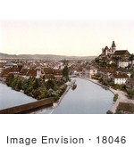 #18046 Picture Of The River Aare Flowing Through Thun Bernese Oberland Switzerland