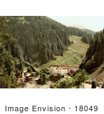 #18049 Picture Of The Baths Of Fideris In Prattigau Davos Grisons Switzerland